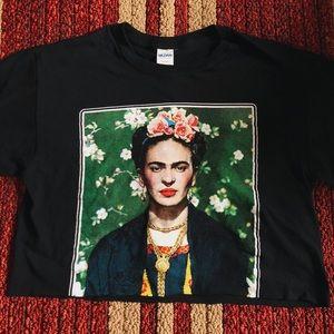 Tops - Cropped Frida Khalo🎨